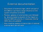 external documentation12