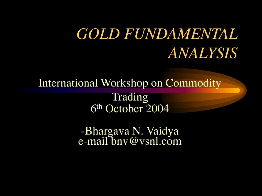 gold fundamental analysis l.