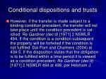 conditional dispositions and trusts22