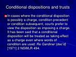 conditional dispositions and trusts23