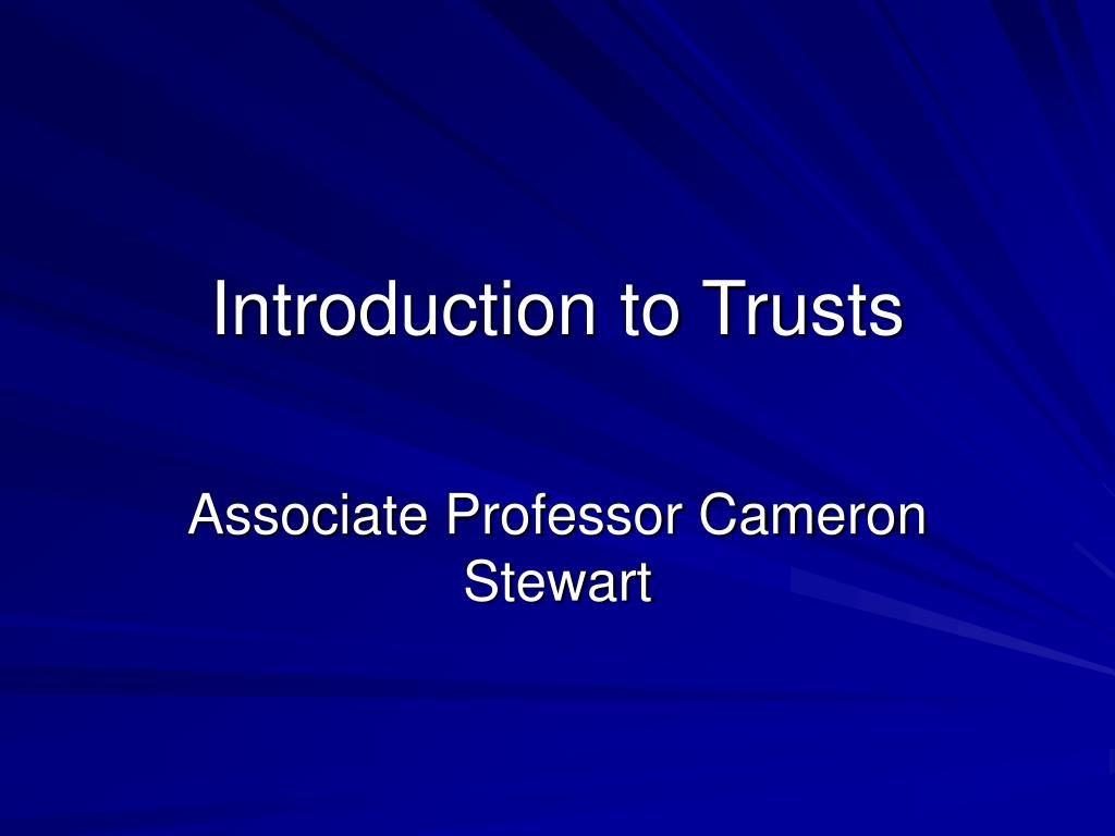 introduction to trusts l.