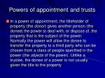 powers of appointment and trusts