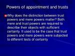 powers of appointment and trusts28