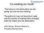 co creating our future