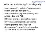 what are we learning strategically