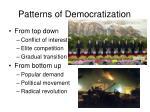 patterns of democratization
