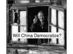 will china democratize