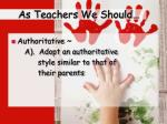 as teachers we should