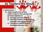 as teachers we should1