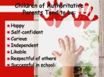 children of authoritative parents tend to be