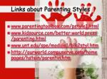 links about parenting styles