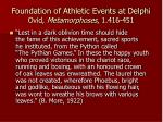 foundation of athletic events at delphi ovid metamorphoses 1 416 451