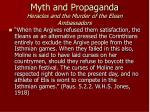 myth and propaganda heracles and the murder of the elean ambassadors