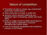 nature of competition1