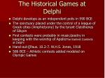 the historical games at delphi