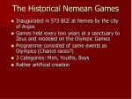 the historical nemean games