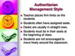 authoritarian management style