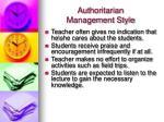 authoritarian management style6