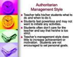 authoritarian management style7