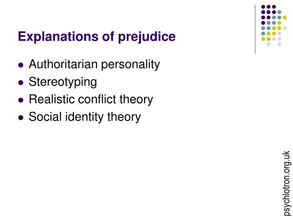 explanations of prejudice l.