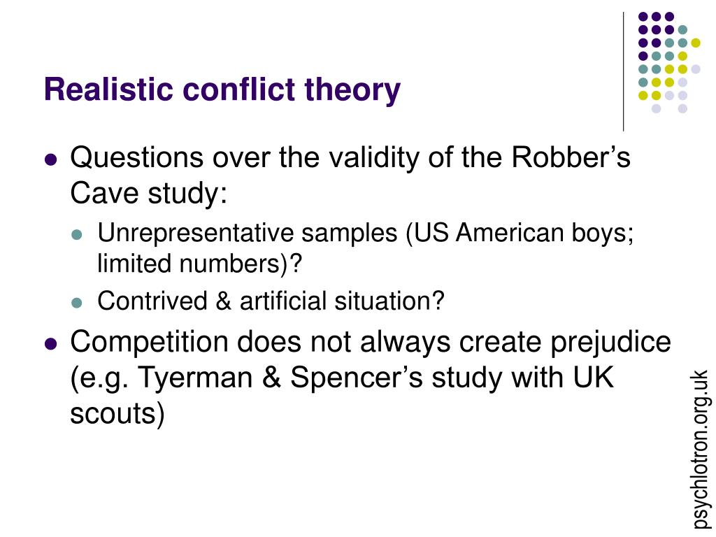 realistic conflict theory essays Us and them: the ease of social identity and the inevitability of conflict groups the topic of this essay is that the social identity theory.