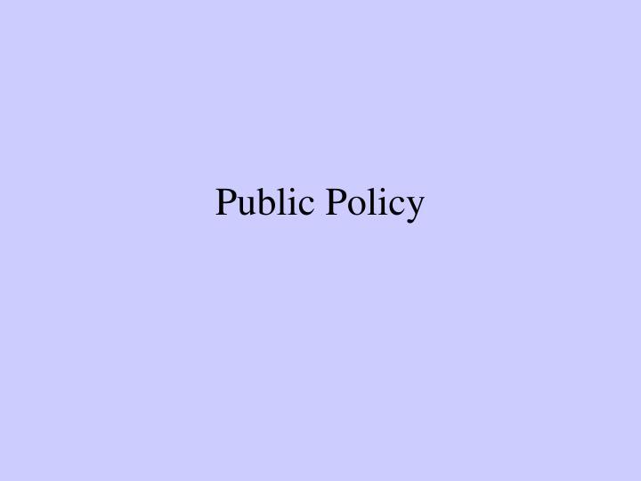 public policy n.
