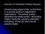 definition of totalitarian political systems