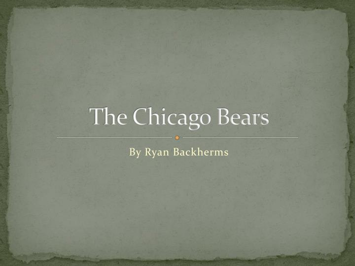 the chicago bears n.
