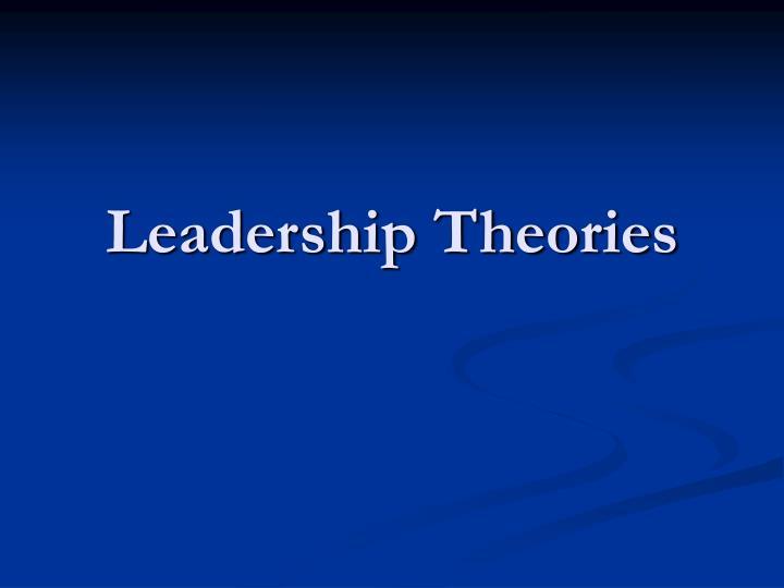 leadership theories n.
