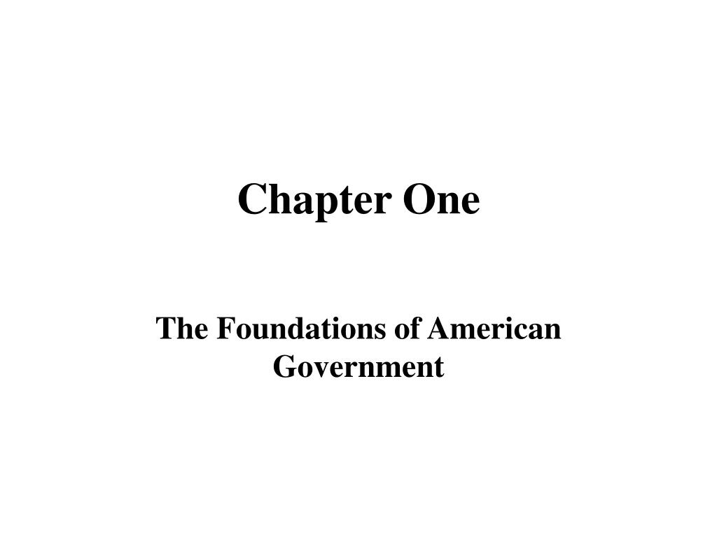 chapter one l.