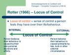 rotter 1966 locus of control