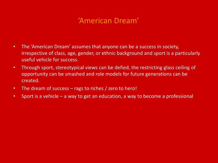 'American Dream'