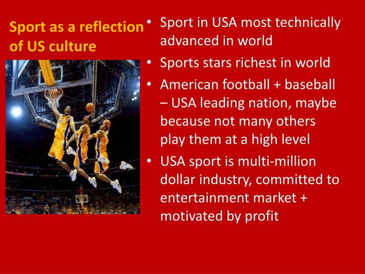 Sport as a reflection of US culture
