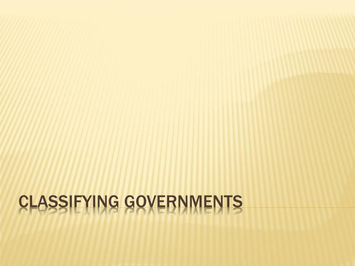 classifying governments n.