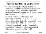 more accounts of conversion
