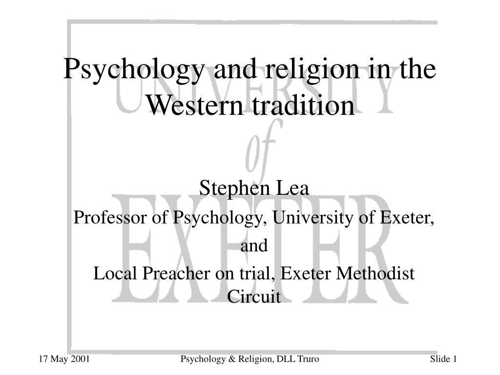 psychology and religion in the western tradition l.