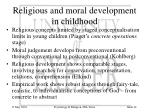 religious and moral development in childhood