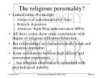 the religious personality