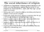 the social inheritance of religion