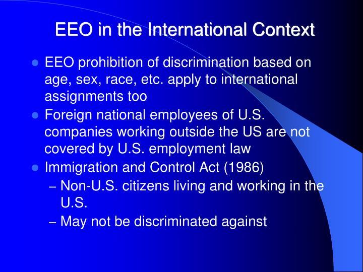 EEO in the International Context