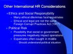 other international hr considerations