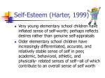 self esteem harter 1999