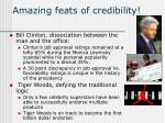 amazing feats of credibility
