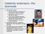 celebrity endorsers the downside