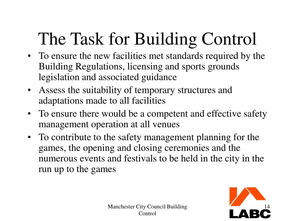 The Task for Building Control