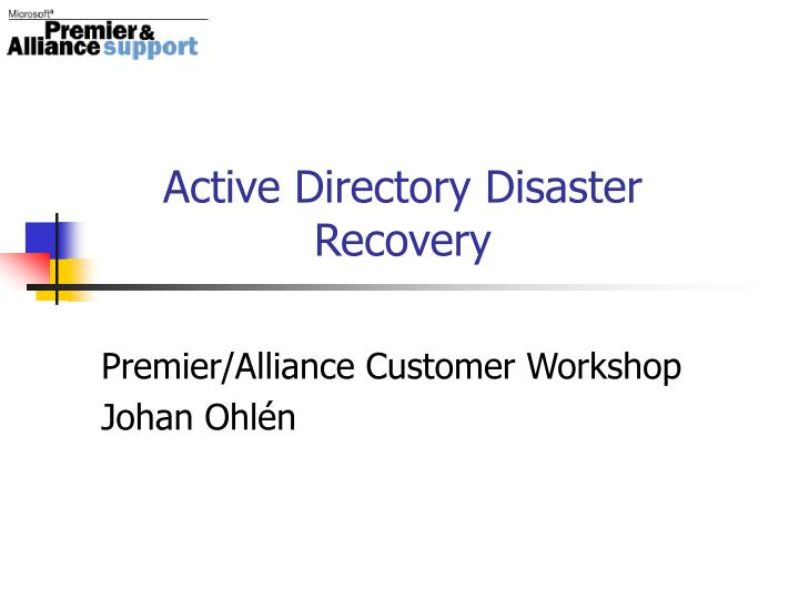 active directory disaster recovery n.