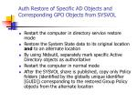 auth restore of specific ad objects and corresponding gpo objects from sysvol