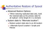 authoritative restore of sysvol