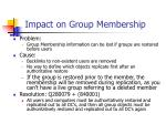 impact on group membership