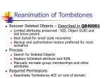 reanimation of tombstones